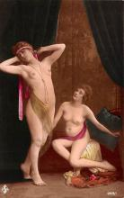 tin000045 - French Tinted Nude Old Vintage Antique Post Card