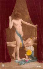 tin000047 - French Tinted Nude Old Vintage Antique Post Card