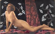 tin000049 - French Tinted Nude Old Vintage Antique Post Card
