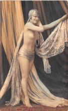 tin000055 - French Tinted Nude Old Vintage Antique Post Card