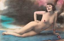 tin000059 - French Tinted Nude Old Vintage Antique Post Card