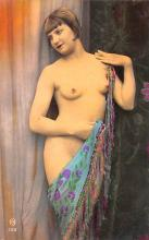 tin000065 - French Tinted Nude Old Vintage Antique Post Card
