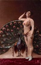 tin000067 - French Tinted Nude Old Vintage Antique Post Card