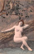tin000073 - French Tinted Nude Old Vintage Antique Post Card