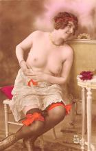 tin000079 - French Tinted Nude Old Vintage Antique Post Card