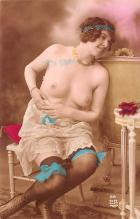 tin000083 - French Tinted Nude Old Vintage Antique Post Card