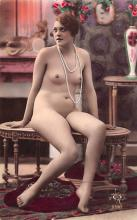 tin000085 - French Tinted Nude Old Vintage Antique Post Card