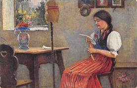 top000501 - Art Post Card,Old Vintage Artist Postcard
