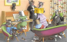 top003695 - Cat Post Card