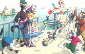 top003711 - Cat Post Card