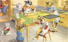 top003719 - Cat Post Card