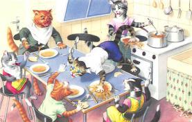 top003761 - Cat Post Card