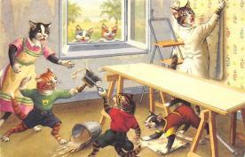 top007039 - Cat Post Card, Cats Postcards