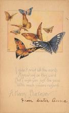 top007795 - Butterflies Post Card, Butterfly Postcard