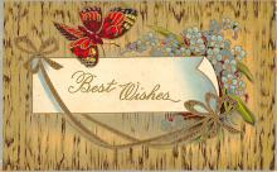 top007809 - Butterflies Post Card, Butterfly Postcard