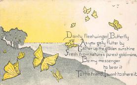 top007925 - Butterflies Post Card, Butterfly Postcard