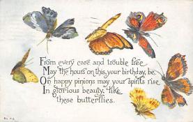 top007941 - Butterflies Post Card, Butterfly Postcard