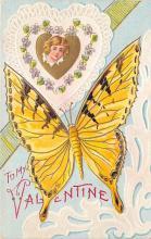 top007947 - Butterflies Post Card, Butterfly Postcard