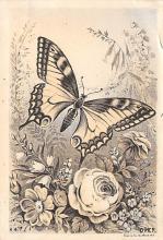 top007979 - Butterflies Post Card, Butterfly Postcard