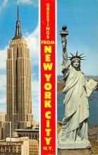 top017105 - Statue of Liberty Post Card