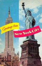 top017107 - Statue of Liberty Post Card