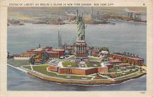 top017235 - Statue of Liberty Post Card