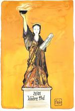 top017627 - Statue of Liberty Post Card