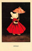 top018897 - Sun Bonnets Reproduction Post Card