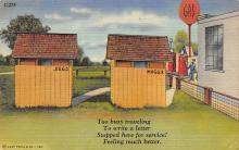 top022291 - Outhouses Post Card Out House Postcard