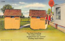 top022303 - Outhouses Post Card Out House Postcard