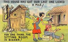 top022313 - Outhouses Post Card Out House Postcard