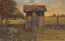 top022321 - Outhouses Post Card Out House Postcard