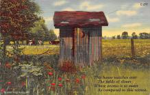 top022323 - Outhouses Post Card Out House Postcard