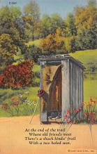 top022345 - Outhouses Post Card Out House Postcard