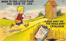 top022355 - Outhouses Post Card Out House Postcard