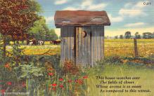 top022385 - Outhouses Post Card Out House Postcard