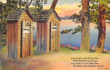 top022437 - Outhouses Postcard Out House Post Card