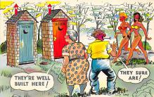 top022447 - Outhouses Postcard Out House Post Card