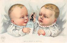 top022813 - Baby Bottle Post Card Post Card
