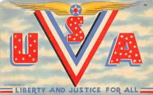 top025045 - Military Victory Linen Post Card