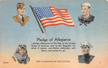 top025049 - Military Victory Linen Post Card