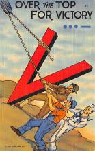 top025051 - Military Victory Linen Post Card