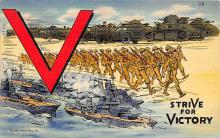top025055 - Military Victory Linen Post Card
