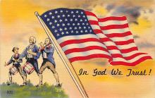 top025059 - Military Victory Linen Post Card