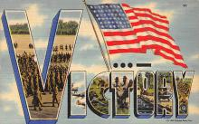 top025067 - Military Victory Linen Post Card