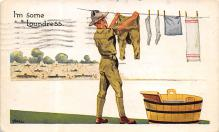 top025069 - Military Victory Linen Post Card