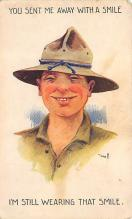 top025071 - Military Victory Linen Post Card