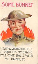 top025073 - Military Victory Linen Post Card