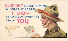 top025075 - Military Victory Linen Post Card