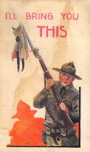 top025077 - Military Victory Linen Post Card